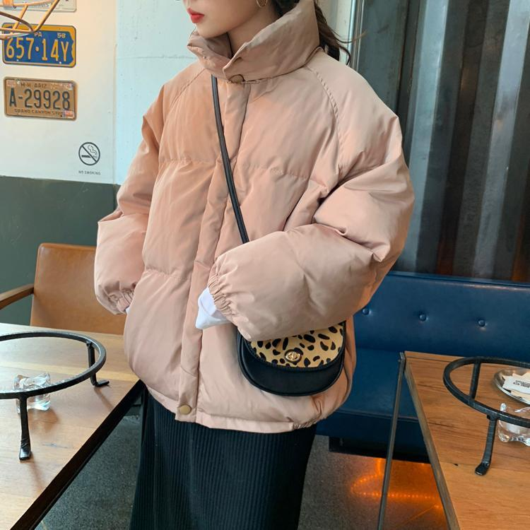 itGirl Shop PUFF COLLAR PINK BLUE RED BLACK WARM JACKET