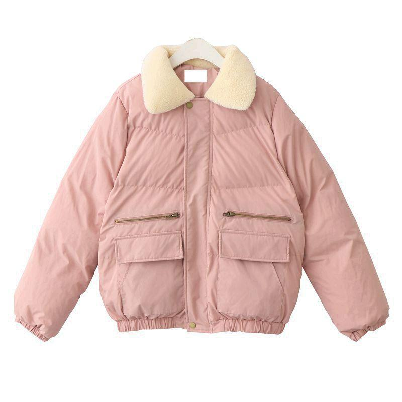 itGirl Shop PUFF PADDED FAUX FLUFFY COLLAR ZIPPER WARM OUTWEAR COAT JACKET