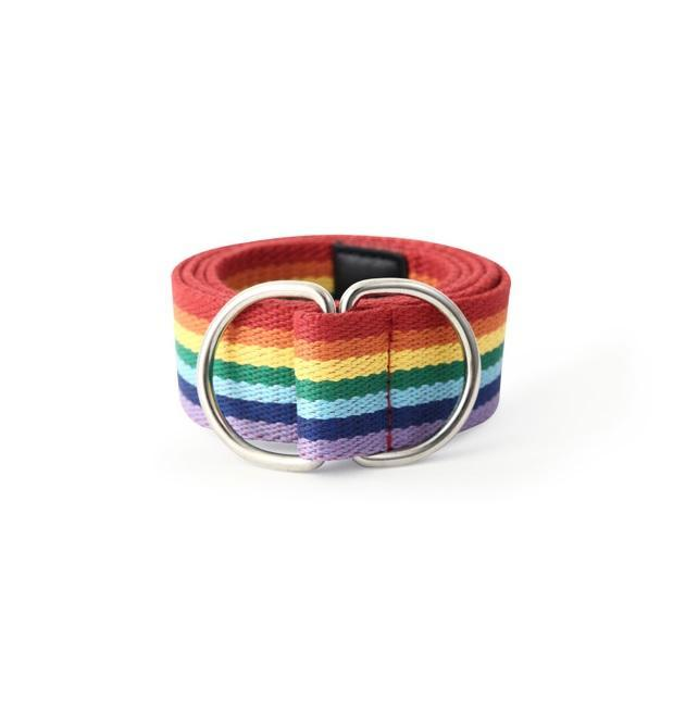 itGirl Shop RAINBOW STRIPES CANVAS EASY BELT
