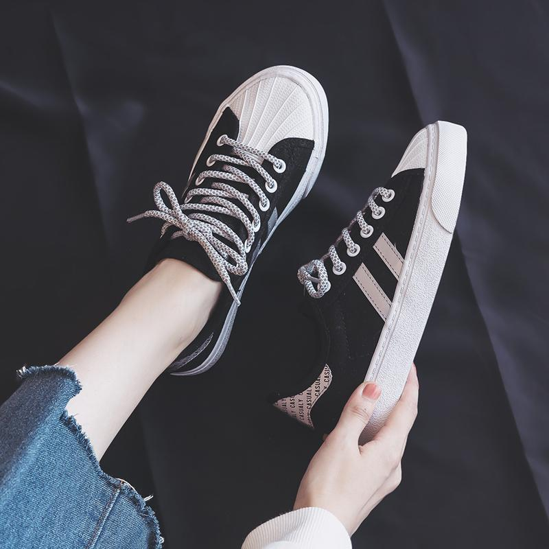 itGirl Shop REFLECTIVE STRIPES CASUAL CANVAS SNEAKERS