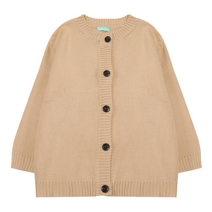 itGirl Shop RETRO KNIT SOLID COLORS CARDIGAN SWEATER