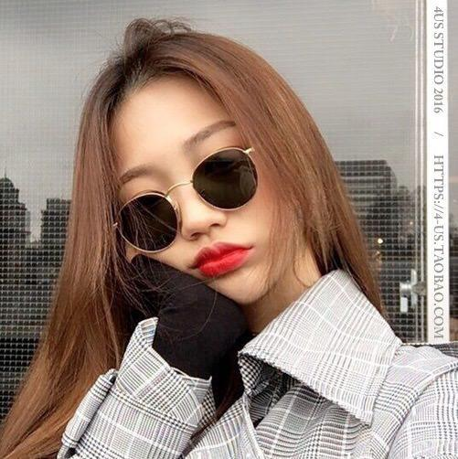 itGirl Shop RETRO ROUND STYLE METALLIC SHADE SUNGLASSES