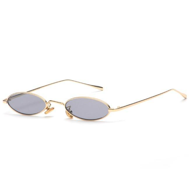 itGirl Shop RETRO THIN ROUND OVAL VINTAGE TRENDY METALLIC FRAME SUNGLASSES
