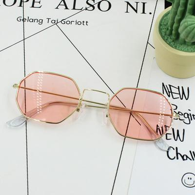 itGirl Shop RHOMBUS SHAPE METALLIC FRAME COLORFUL SUNGLASSES