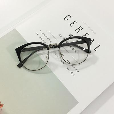 itGirl Shop ROUND CAT CLEAR TRANSPARENT SHADES GLASSES