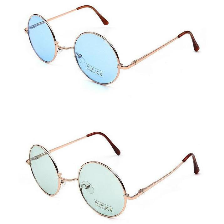 itGirl Shop ROUND COLORS HIPPIE SUNGLASSES
