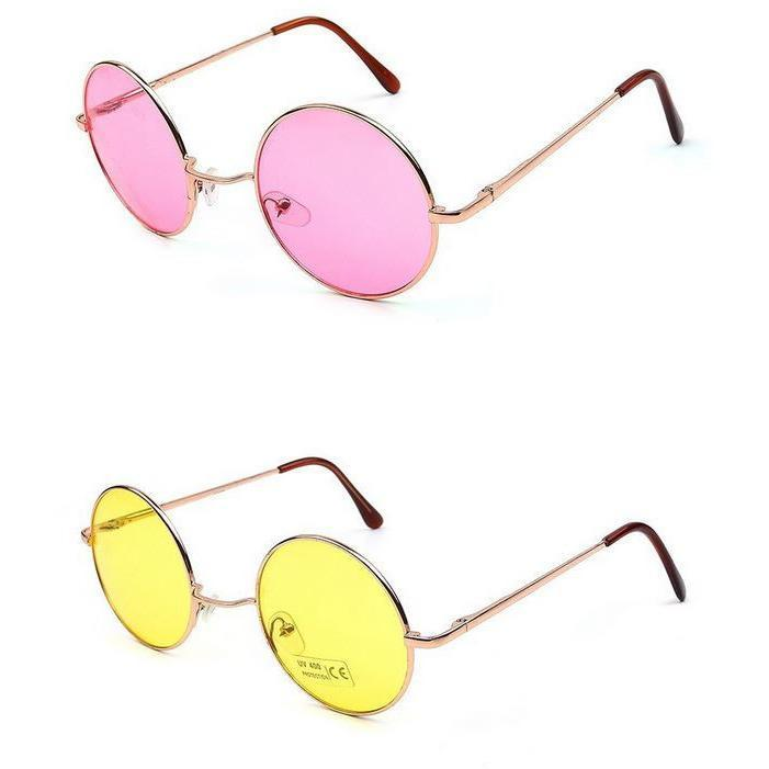 itGirl Shop ROUND COLORS HIPPIE SUNGLASSES Aesthetic Apparel, Tumblr Clothes, Soft Grunge, Pastel goth, Harajuku fashion. Korean and Japan Style looks