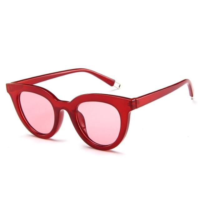 itGirl Shop ROUND RETRO TRENDY PLASTIC FRAME SUNGLASSES