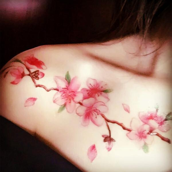 itGirl Shop SAKURA BLOSSOM TREE BRANCH TEMPORARY TATTOO