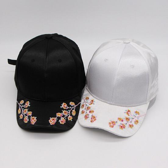 Buy Cheap Aesthetic Clothing SATIN SAKURA EMBROIDERY CAP Sale 30% OFF itGirl Shop itgirlclothing.com