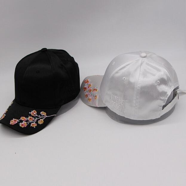 itGirl Shop SATIN SAKURA EMBROIDERY CAP