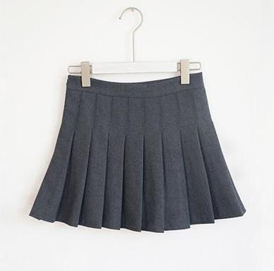 SCHOOL COLOURS PLEATED ABOVE KNEE SKIRT WITH HIDDEN SHORTS