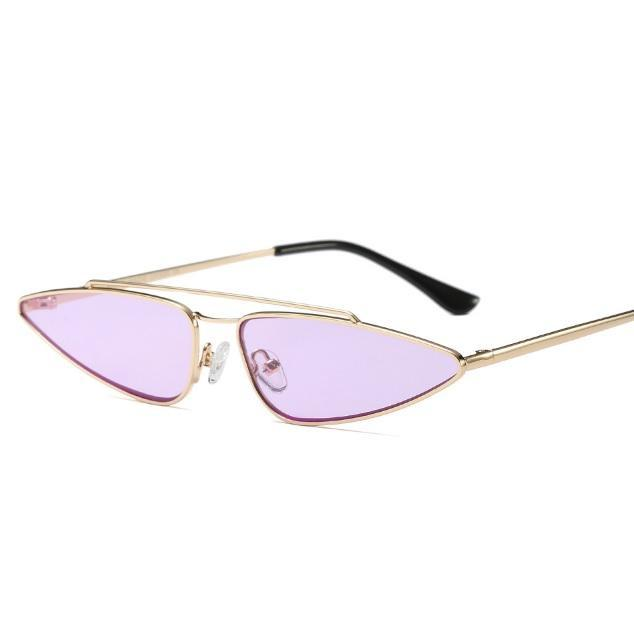 itGirl Shop SCI-FI TRENDY THIN SHADES METALLIC FRAME SUNGLASSES