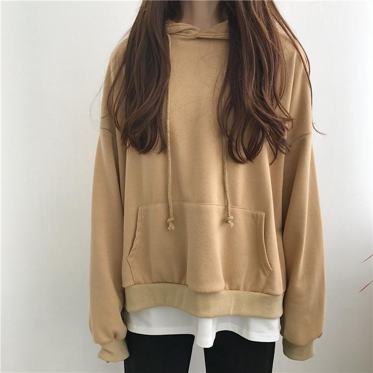itGirl Shop SEVEN COLORS OVERSIZED FRONT POCKET LONG SLEEVE HOODIE Aesthetic Apparel, Tumblr Clothes, Soft Grunge, Pastel goth, Harajuku fashion. Korean and Japan Style looks