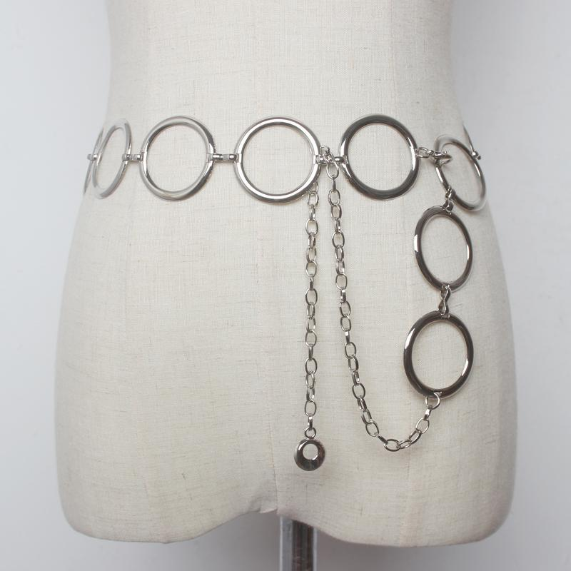 itGirl Shop SILVER GOLDEN AESTHETIC RINGS CHAINS BELT