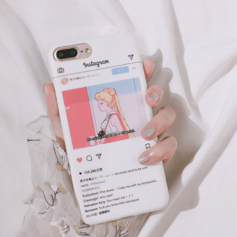itGirl Shop SM ANIME INSTAGRAM SCREEN IPHONE COVER