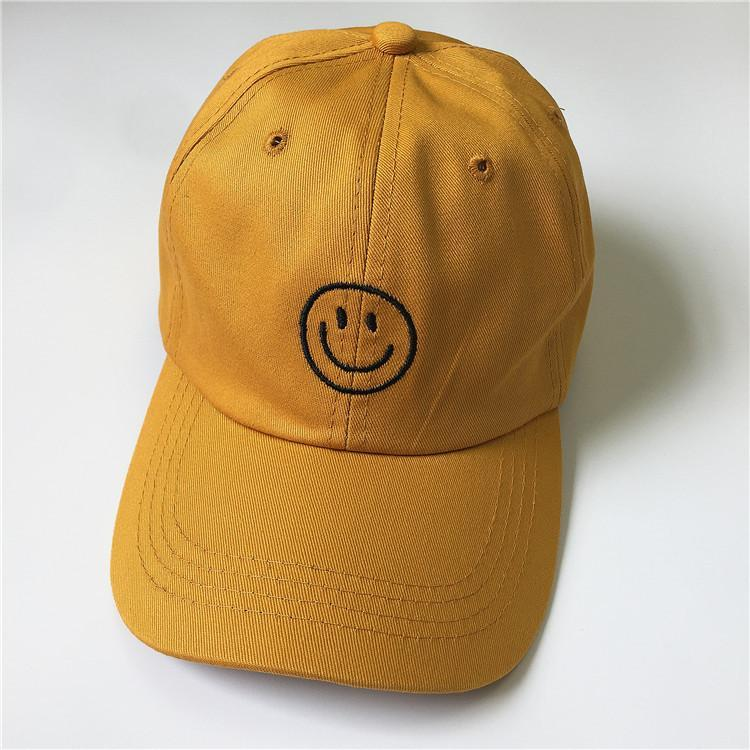 itGirl Shop SMILE FACE EMBROIDERY TUMBLR AESTHETIC COLORFUL CAP