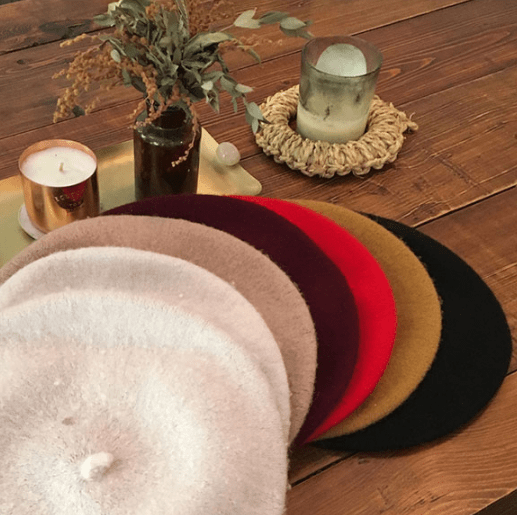 itGirl Shop SOFT FLUFFY THIN FRENCH STYLE BERET HAT