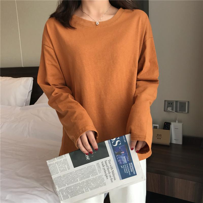 itGirl Shop SOLID COLORS AESTHETIC LONG SLEEVE LOOSE SHIRT