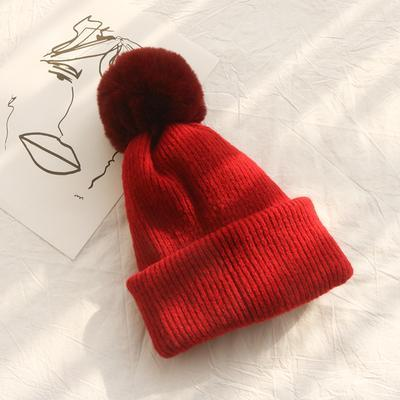 itGirl Shop SOLID COLORS DUAL USE KNITTED POMPOM BALL SCARF BEANIE