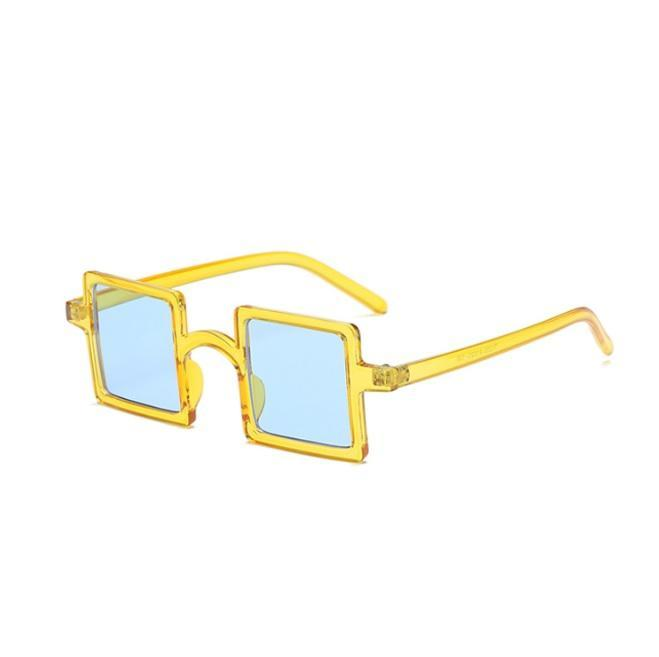 itGirl Shop SQUARE SHAPE PLASTIC FRAME COLORFUL SUNGLASSES