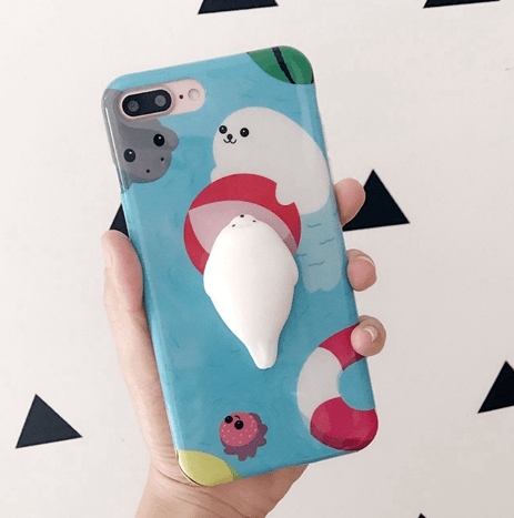 itGirl Shop SQUISHY RUBBER BEAR AND SEAL IPHONE CASE