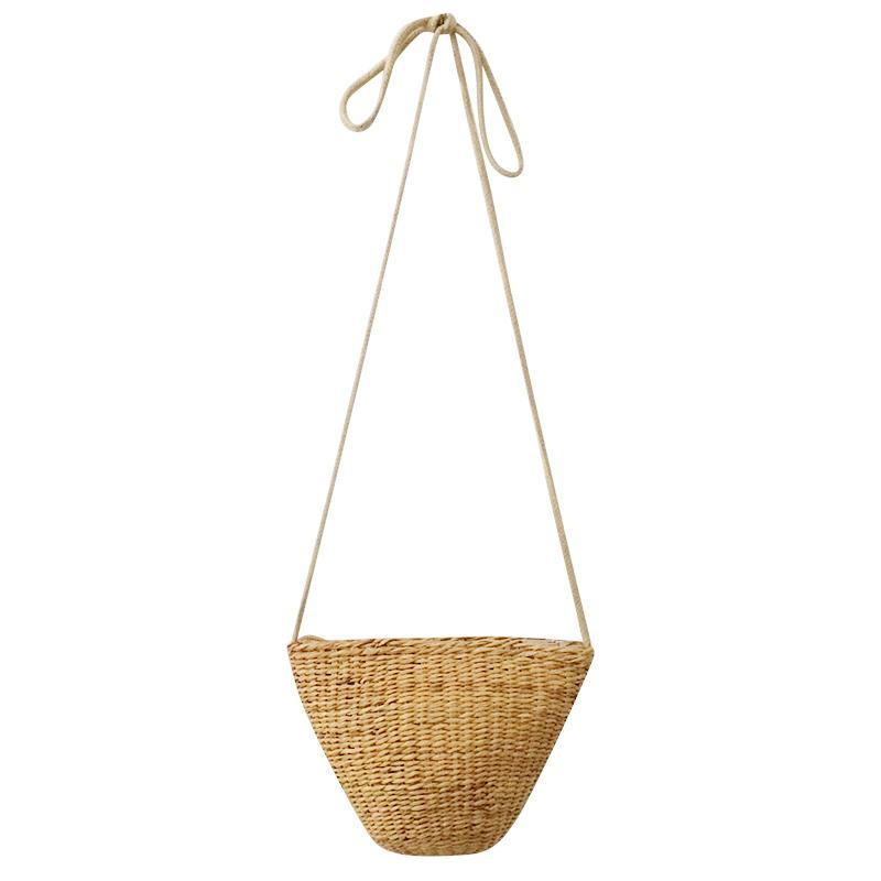 itGirl Shop STRAW WICKER BOHEMIA SUMMER BAG
