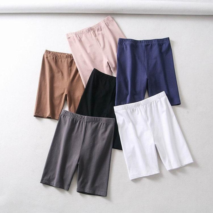 itGirl Shop STRETCHY SLIM HIGH WAIST SPORTS SOLID COLORS SHORTS
