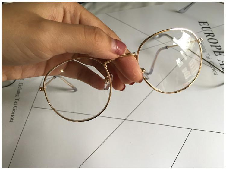 itGirl Shop STRONG METALLIC CLEAR ROUND GLASSES