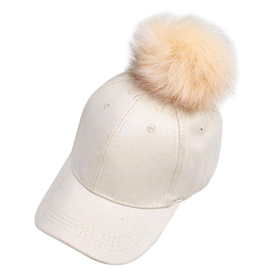 itGirl Shop SUEDE FUR POM POM CAP Aesthetic Apparel, Tumblr Clothes, Soft Grunge, Pastel goth, Harajuku fashion. Korean and Japan Style looks