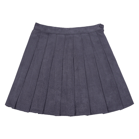 itGirl Shop SUEDE SOFT SCHOOL PLEATED SKIRT