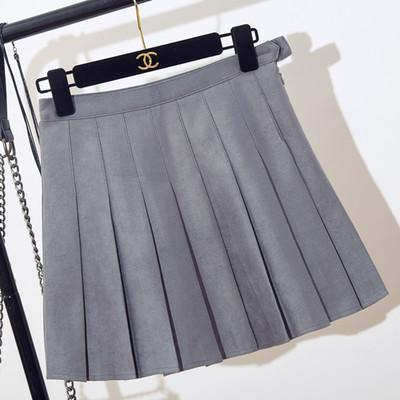 itGirl Shop SUEDE SOFT SCHOOL PLEATED SKIRT Aesthetic Apparel, Tumblr Clothes, Soft Grunge, Pastel goth, Harajuku fashion. Korean and Japan Style looks