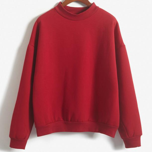 itGirl Shop THICKENING WARM TURTLENECK SWEATSHIRT Aesthetic Apparel, Tumblr Clothes, Soft Grunge, Pastel goth, Harajuku fashion. Korean and Japan Style looks