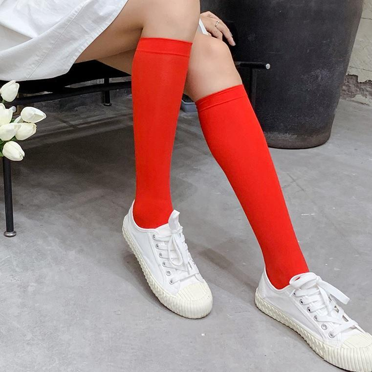 itGirl Shop THIN COLORFUL AESTHETIC ELASTIC HIGH SOCKS