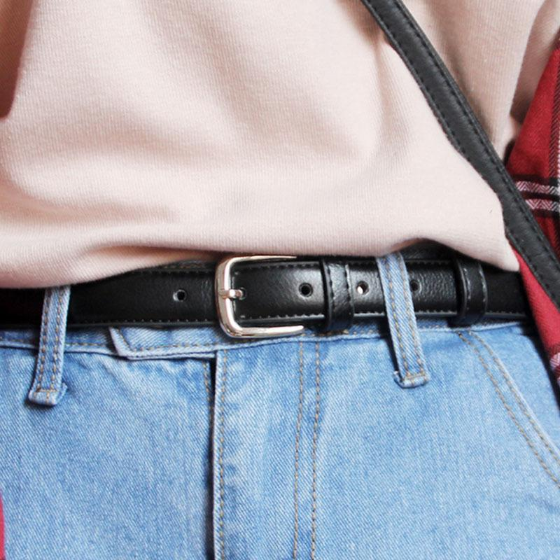 THIN LEATHER BASIC VINTAGE BELT