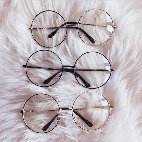 itGirl Shop TRANSPARENT CIRCLE ROUND METALLIC FRAME KOREAN CLEAR POTTER GLASSES