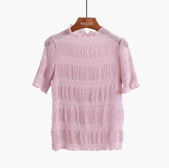 itGirl Shop TRANSPARENT THIN LACE PASTEL COLOURS T-SHIRTS