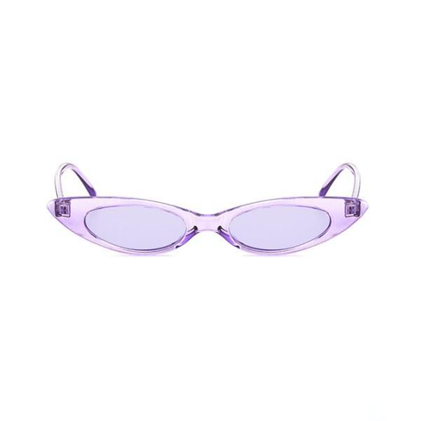 itGirl Shop TRENDY NARROW POINTY PLASTIC FRAME SUNGLASSES