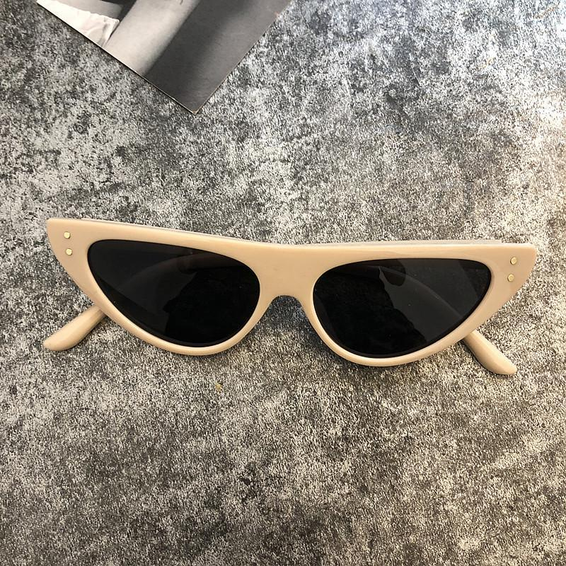 itGirl Shop TRENDY PLASTIC POINTY FRAME SUNGLASSES
