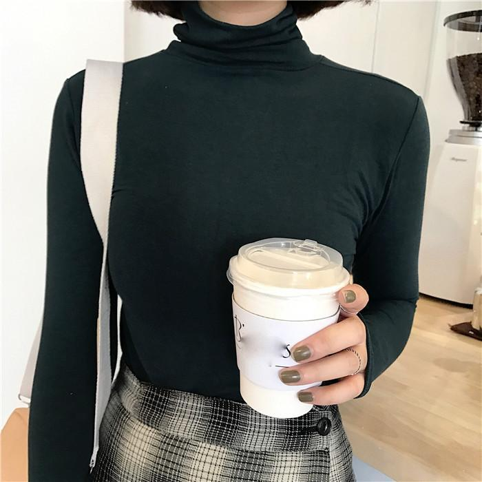 itGirl Shop TURTLE NECK BASIC LONG SLEEVE COLORFUL SLIM FLAT KNIT BLOUSES Aesthetic Apparel, Tumblr Clothes, Soft Grunge, Pastel goth, Harajuku fashion. Korean and Japan Style looks