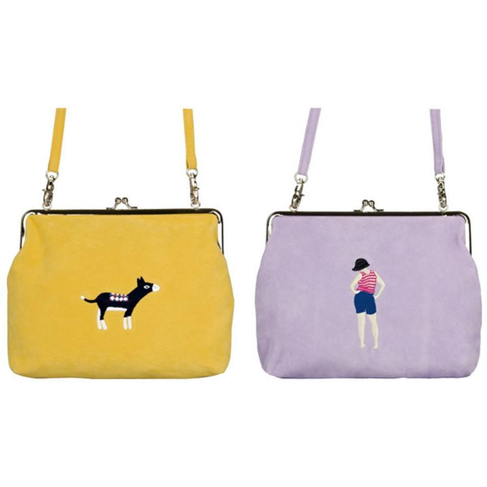 itGirl Shop VELVET EMBROIDERY SHOULDER BAG Aesthetic Apparel, Tumblr Clothes, Soft Grunge, Pastel goth, Harajuku fashion. Korean and Japan Style looks