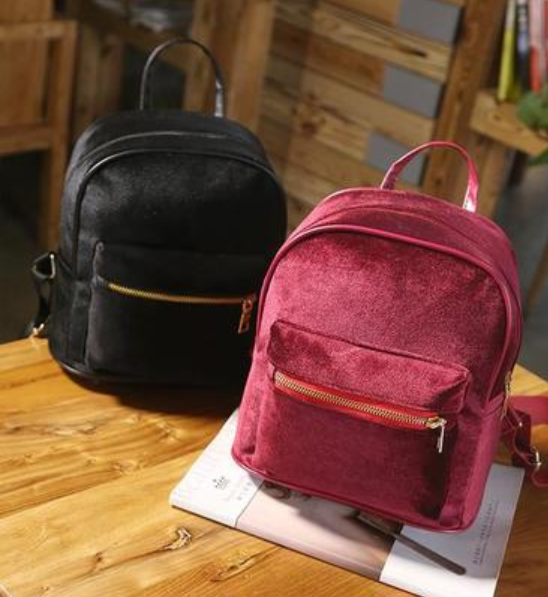 Buy Cheap Aesthetic Clothing VELVET ZIPPER BACKPACK Sale 30% OFF itGirl Shop itgirlclothing.com