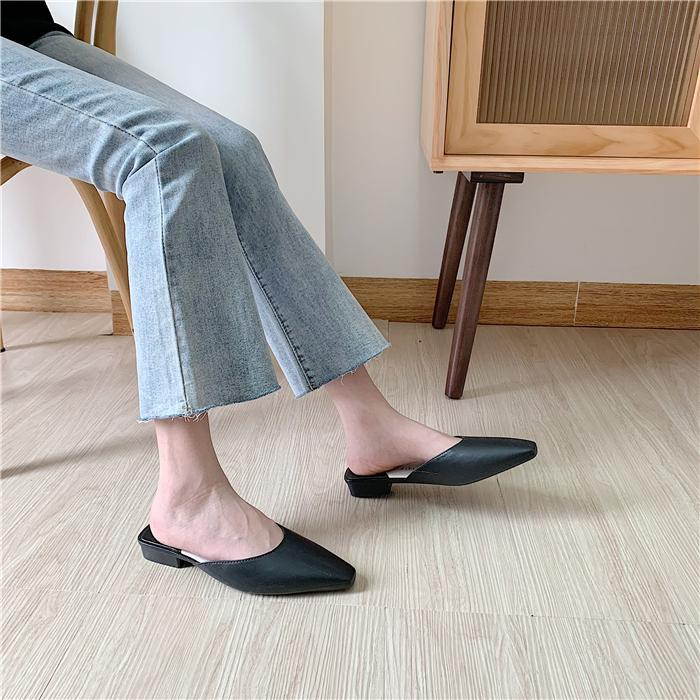 itGirl Shop VINTAGE AESTHETIC SHARP NOSE CUT ELEGANT SLIPPER SANDALS