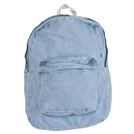 itGirl Shop VINTAGE DENIM SCHOOL BAG