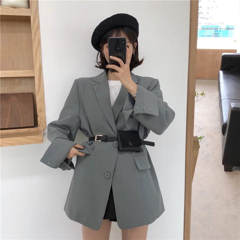 itGirl Shop VINTAGE ELEGANT OVERSIZED SMOKING BLAZER JACKET