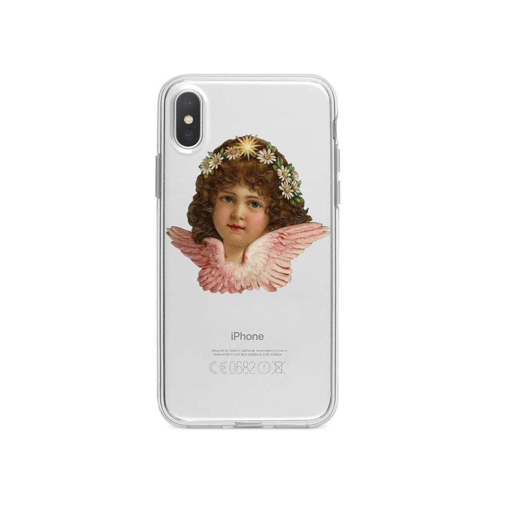 VINTAGE TRANSPARENT ANGEL HEAD IPHONE COVER CASE