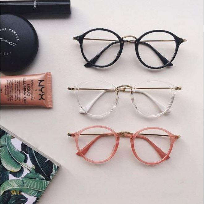 itGirl Shop VSALE ROUND CLEAR AESTHETIC GLASSES