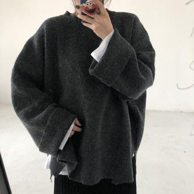 itGirl Shop WARM OVERSIZE HUGE SOLID COLORS SWEATER