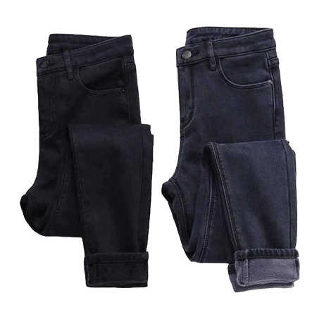 itGirl Shop WARM WINTER JEANS WITH VELVET INSIDE
