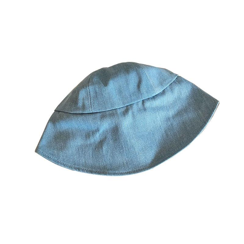 itGirl Shop WASHED BLUE DENIM RETRO CUTE BUCKET SUNSCREEN HAT